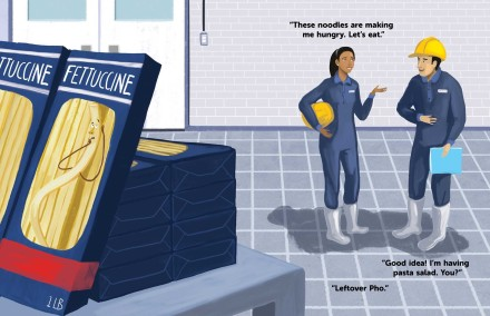 celebrate-picture-books-picture-book-review-the-great-pasta-escape-factory-workers