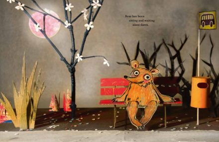celebrate-picture-books-picture-book-review-Waiting-for-Goliath-waiting-at-bus-stop