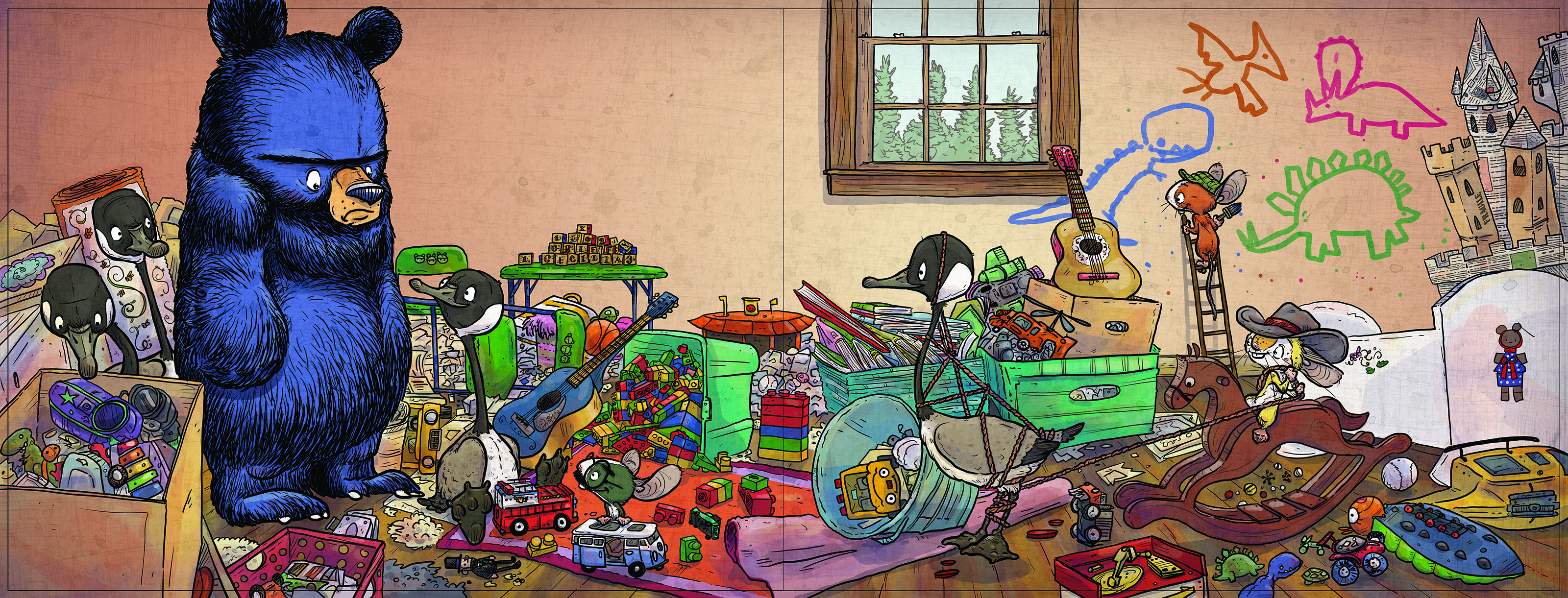 celebrate-picture-books-picture-book-review-Bruces-Big-Move-messy-house