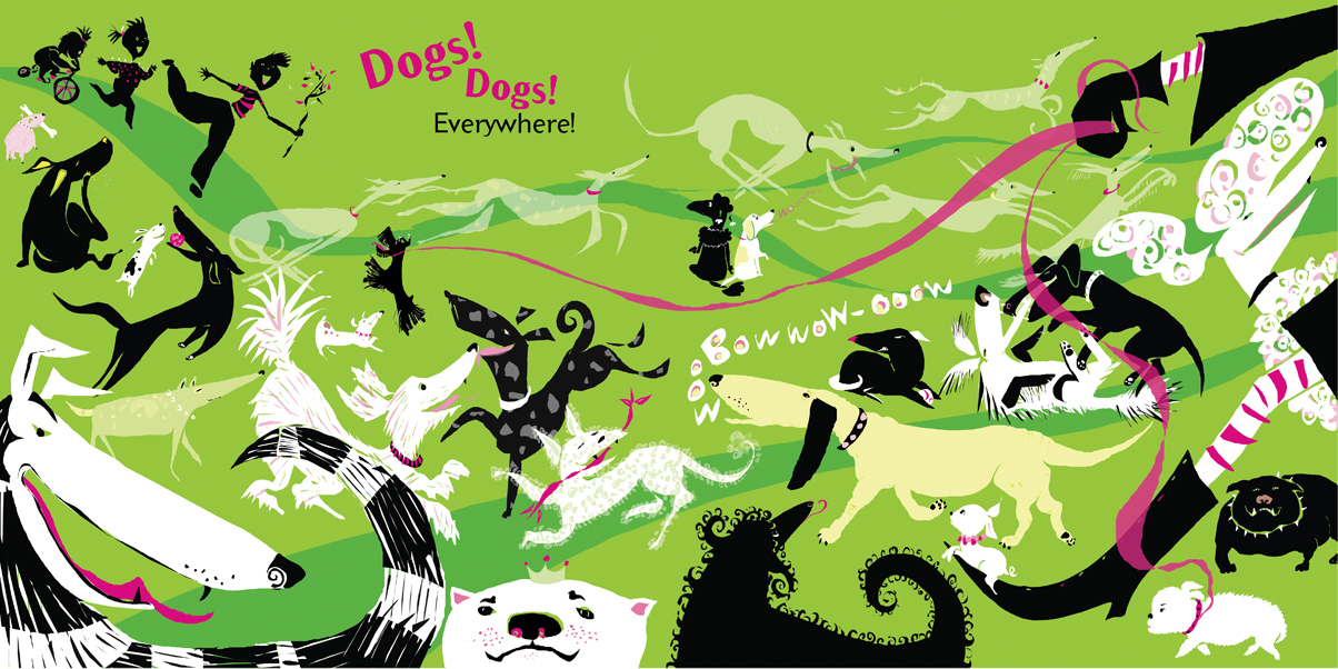 celebrate-picture-books-picture-book-review-don't-lick-the-dog-dogs-everywhere