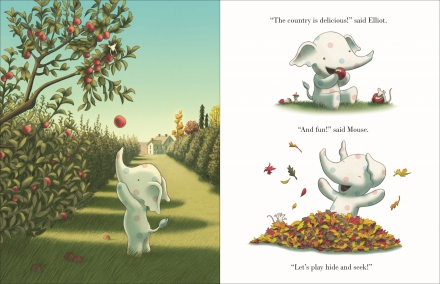 celebrate-picture-books-picture-book-review-little-elliot-fall-friends-eating-apples