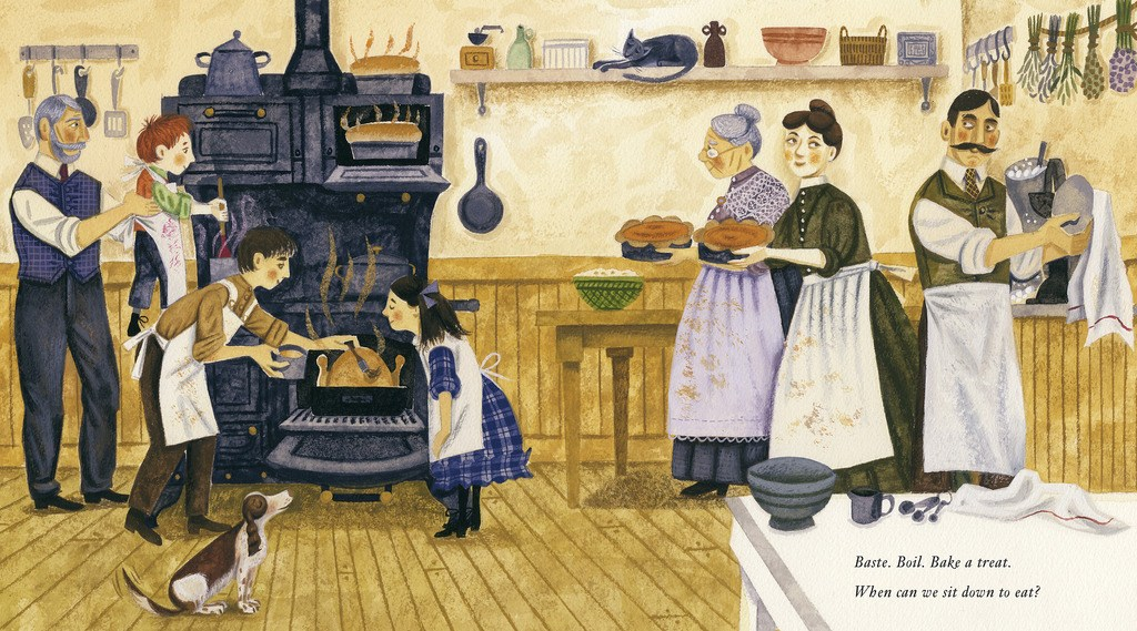 celebrate-picture-books-picture-book-review-sharing-the-bread-an-old-fashioned-thanksgiving-story-kitchen