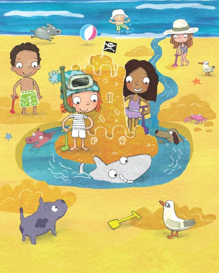 celebrate-picture-books-picture-book-review-shark-dog-beach-fun