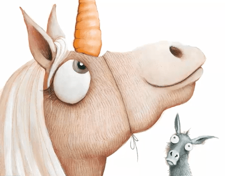 celebrate-picture-books-picture-book-review-thelma-the-unicorn-carrot-horn