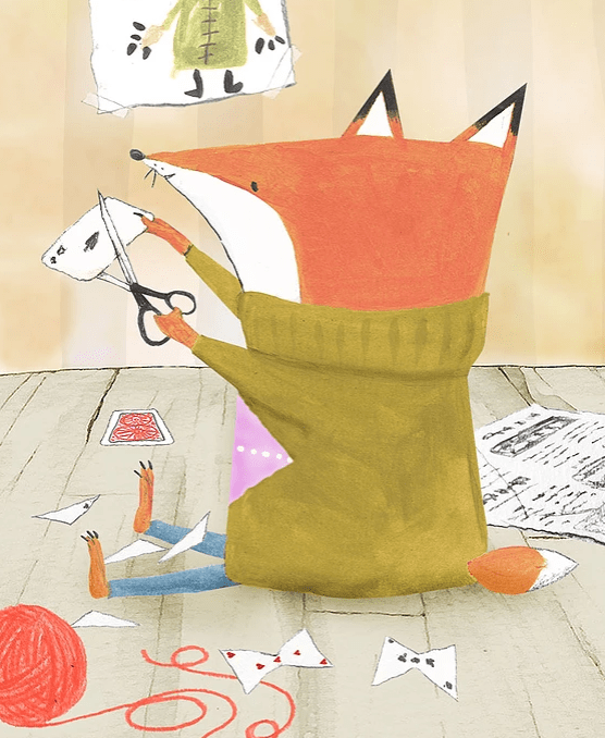 celebrate-picture-books-picture-book-review-argyle-fox-cutting-cards