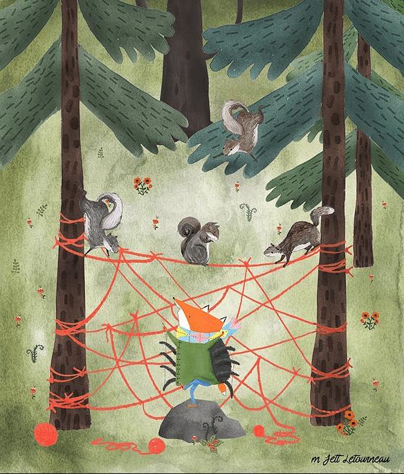 celebrate-picture-books-picture-book-review-argyle-fox-spider-web