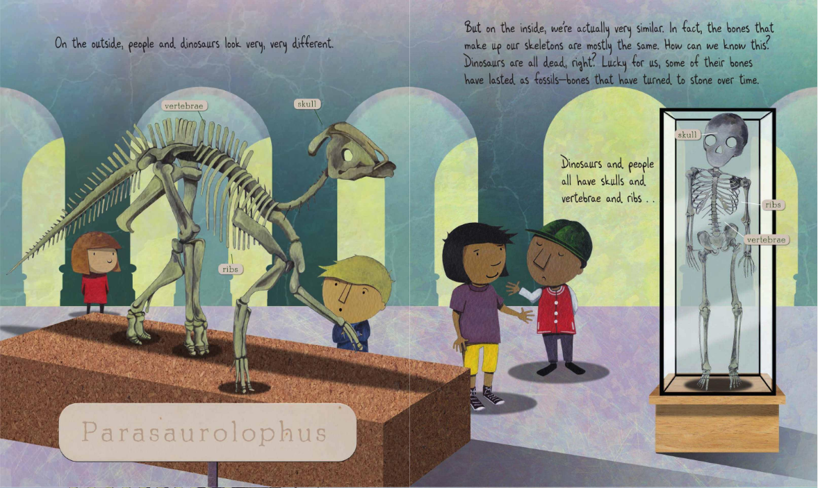 celebrate-picture-books-picture-book-review-fossil-by-fossil-parasaurolophus