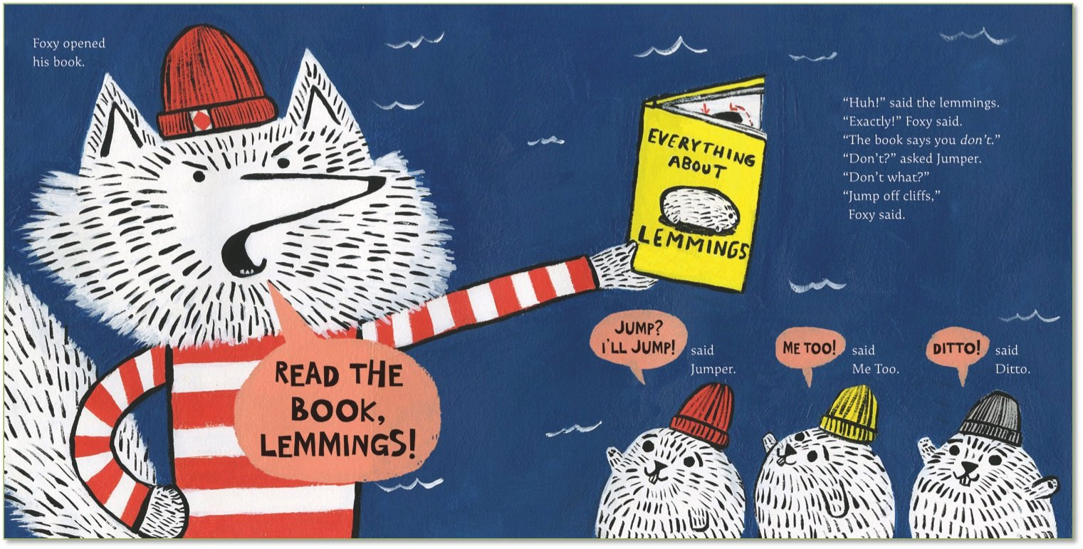 celebrate-picture-books-picture-book-review-read-the-book-lemmings-foxy