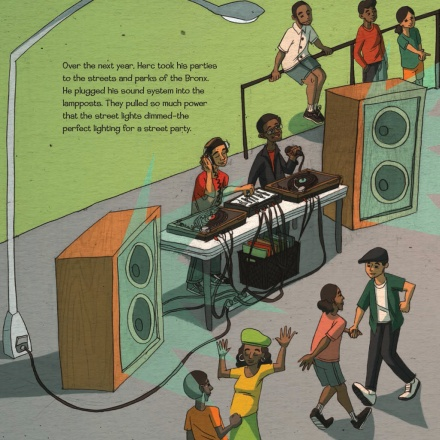 celebrate-picture-books-picture-book-review-when-the-beat-was-born-dance-party