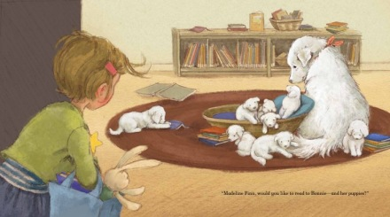 celebrate-picture-books-picture-book-review-madeline-finn-and-the-library-dog-puppies
