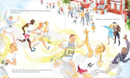 celebrate-picture-books-picture-book-review-the-girl-who-ran-young-Boston-marathon-all-men