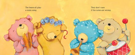 celebrate-picture-books-picture-book-review-bears-in-a-band-all-playing