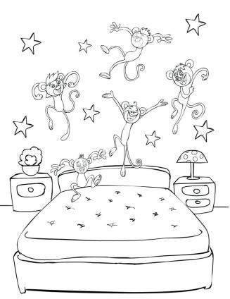 celebrate-picture-books-picture-book-review-five-monkeys-jumping-on-bed-coloring-page