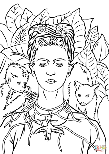 celebrate-picture-books-picture-book-review-freda-kahlo-coloring-page