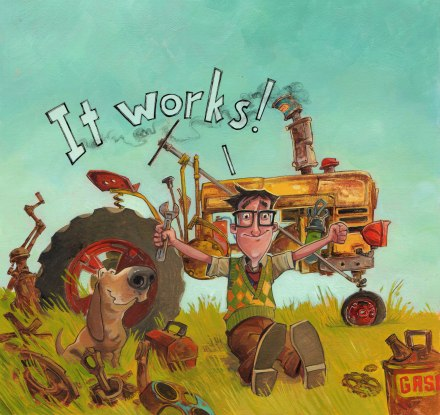 celebrate-picture-books-picture-book-review-george-the-hero-hound-cover-tractor-works