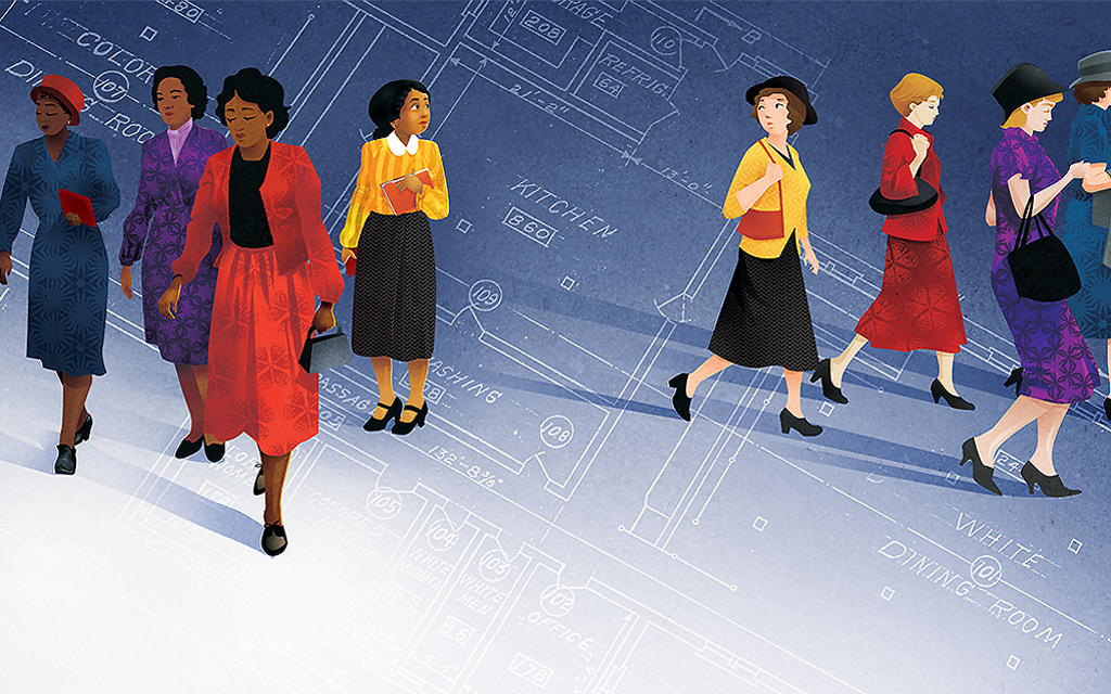 celebrate-picture-books-picture-book-review-hidden-figures-the-true-story-of-four-black-women-and-the-space-race-separate-offices