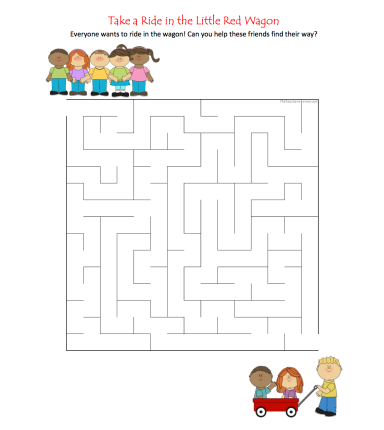 celebrate-picture-books-picture-book-review-little-red-wagon-maze