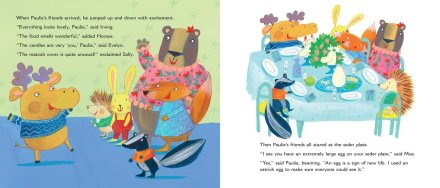 celebrate-picture-books-picture-book-review-paulie's-passover-predicament-seder-dinner