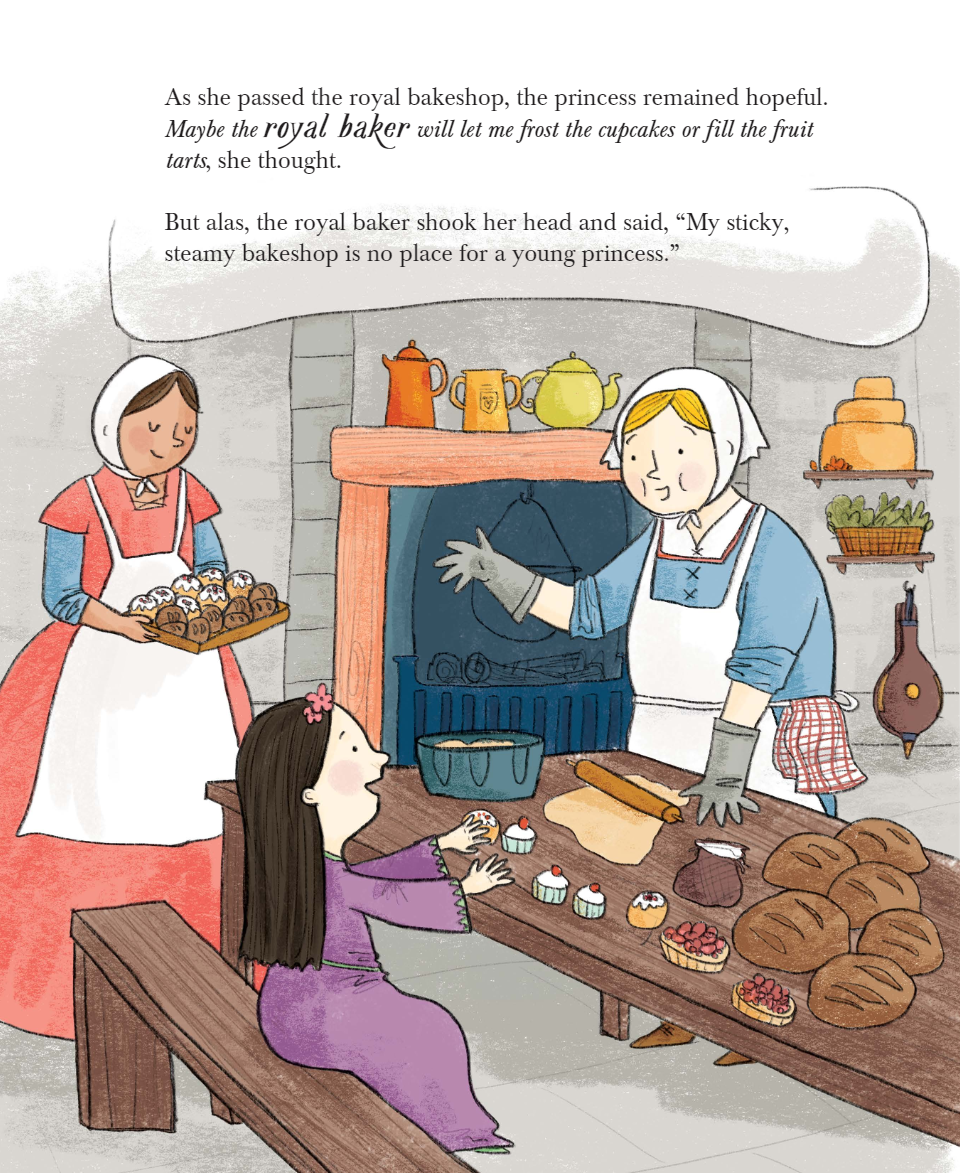 celebrate-picture-books-picture-book-review-the-princess-and-the-cafe-on-the-moat-kitchen
