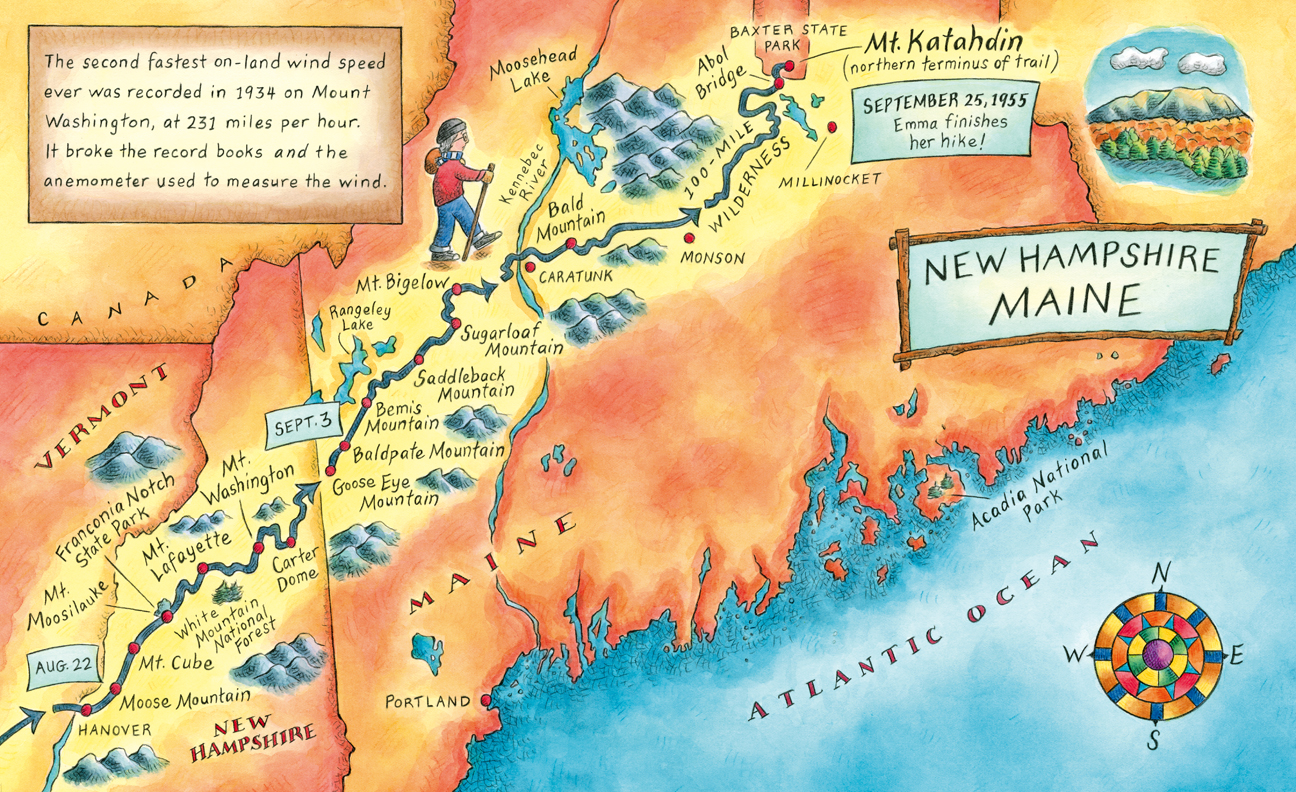 celebrate-picture-books-picture-book-review-grandma-gatewood-hikes-the-appalachian-trail-new-hampshire-map