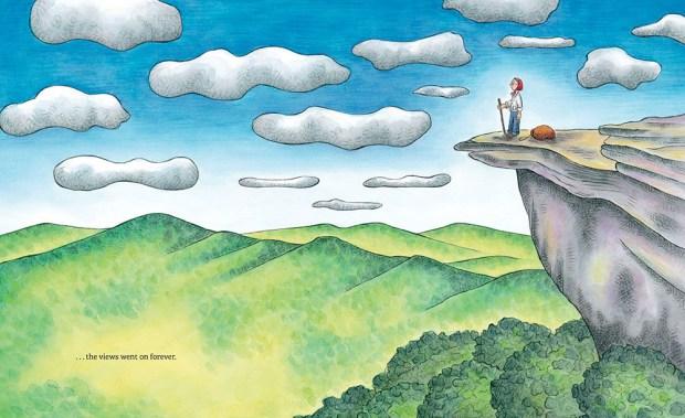 celebrate-picture-books-picture-book-review-grandma-gatewood-hikes-the-appalachian-trail-vista
