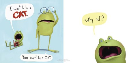 celebrate-picture-books-picture-book-review-i-don't-want-to-be-a-frog-cat