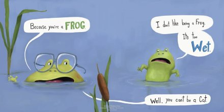 celebrate-picture-books-picture-book-review-i-don't-want-to-be-a-frog-too-wet