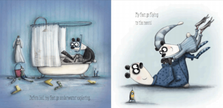 celebrate-picture-books-picture-book-review-where-my-feet-go-bath-time