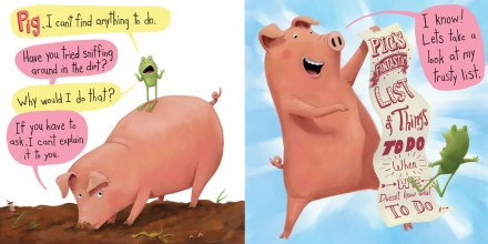 celebrate-picture-books-picture-book-review-there's-nothing-to-do-pig's-list