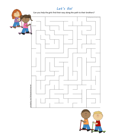 celebrate-picture-books-picture-book-review-let's-go-scooter-maze