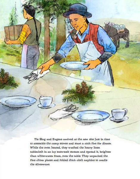 celebrate-picture-books-picture-book-review-mountain-chef-setting-the-table