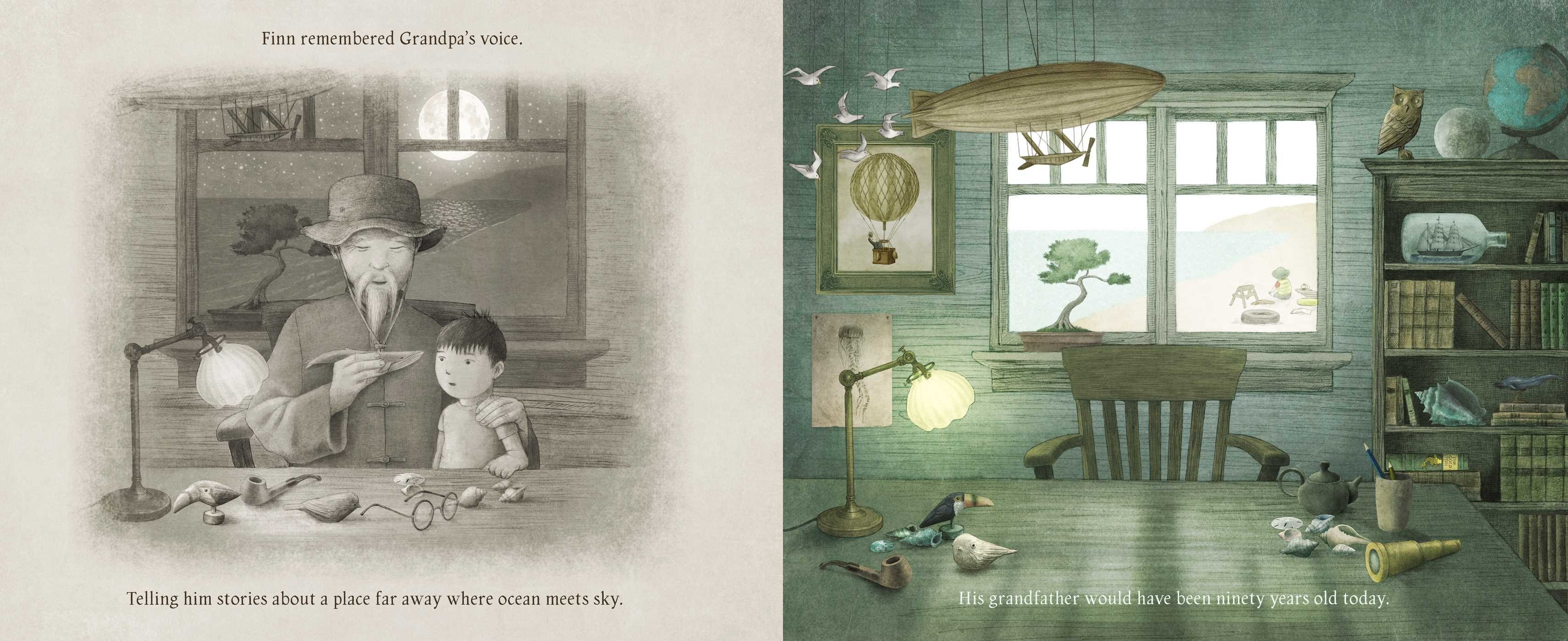 celebrate-picture-books-picture-book-review-ocean-meets-sky-grandpa's-voice