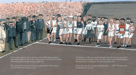 celebrate-picture-books-picture-book-review-the-wildest-race-ever-starting-line