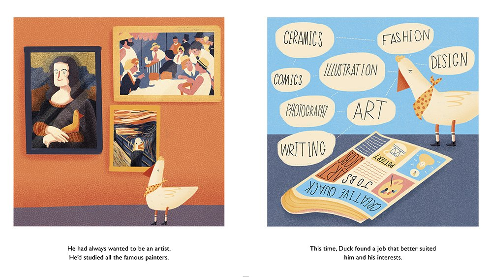 celebrate-picture-books-picture-book-review-duck-gets-a-job-creative-job