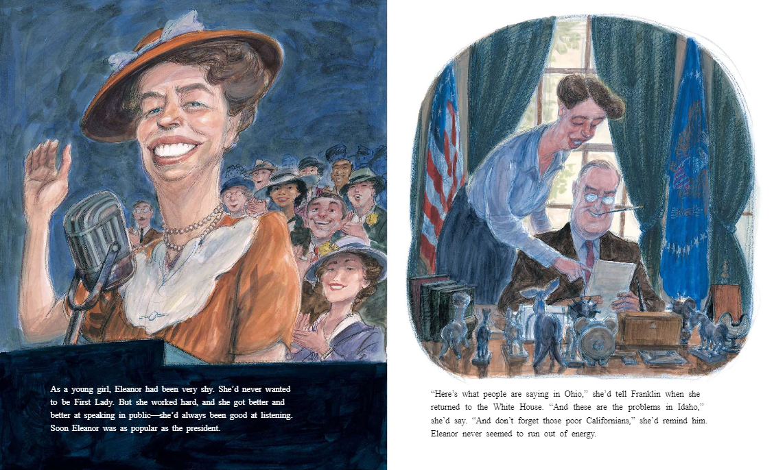 celebrate-picture-books-picture-book-review-hot-dog-eleanor-roosevelt-throws-a-picnic-first-lady