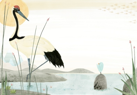 celebrate-picture-books-picture-book-review-the-blue-songbird-crane