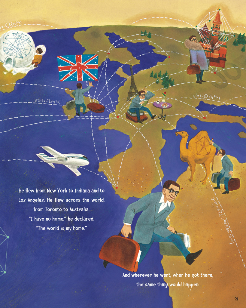 celebrate-picture-books-picture-book-review-the-boy-who-loved-math-the-improbable-life-of-paul-erdos-paul-around-the-world