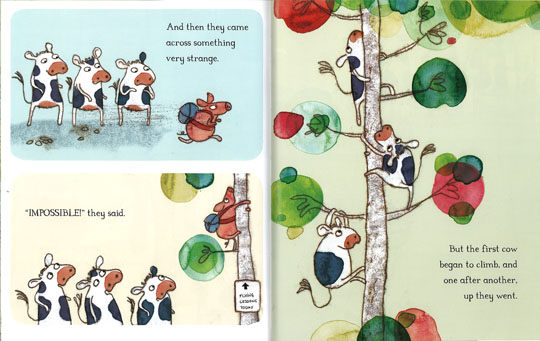 celebrate-picture-books-picture-book-review-the-cow-who-climbed-a-tree-something-strange