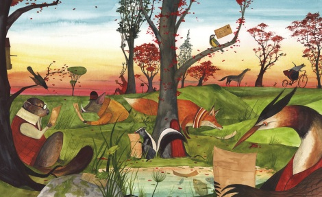 celebrate-picture-books-picture-book-review-the-lonely-mailman-animals