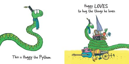 celebrate-picture-books-picture-book-review-wee-beasties-huggy-the-python-hugs-too-hard-huggy