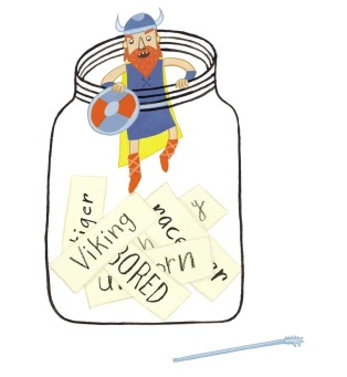 celebrate-picture-books-picture-book-review-idea-jar-viking-climbing-out-of-jar