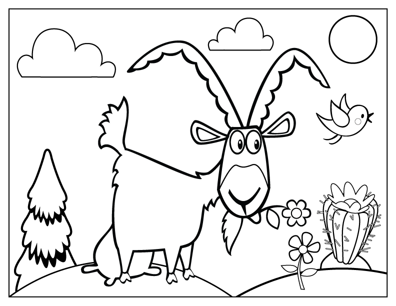 celebrate-picture-books-picture-book-review-goat-eating-flowers-coloring-page