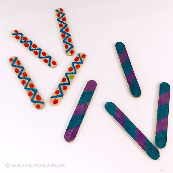 celebrate-picture-books-picture-book-review-patterned-popsicle-sticks-game