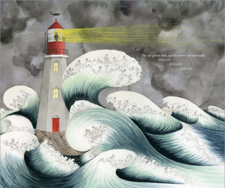 celebrate-picture-books-picture-book-review-hello-lighthouse-stormy-waves