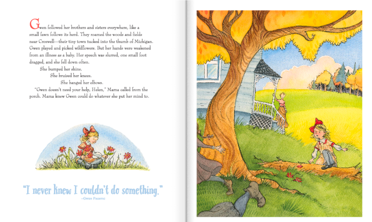 celebrate-picture-books-picture-book-review-nature's-friend-the-gwen-frostic-story-young-gwen