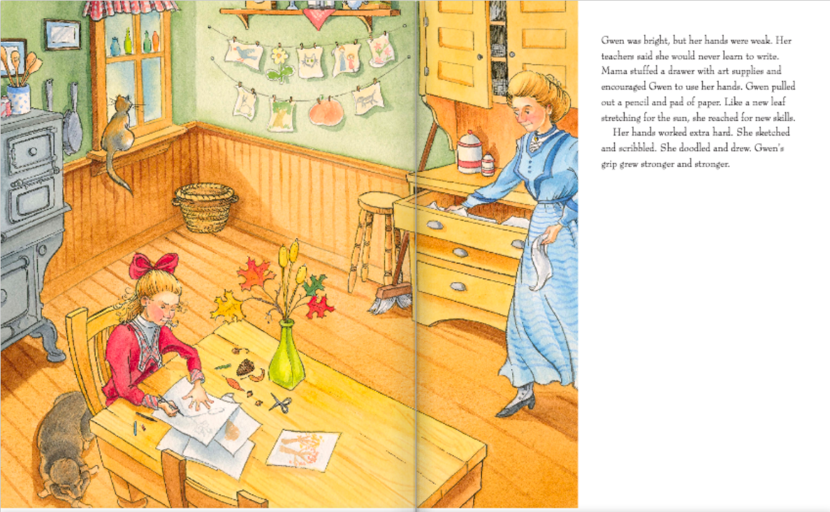 celebrate-picture-books-picture-book-review-nature's-friend-the-gwen-frostic-story-drawing