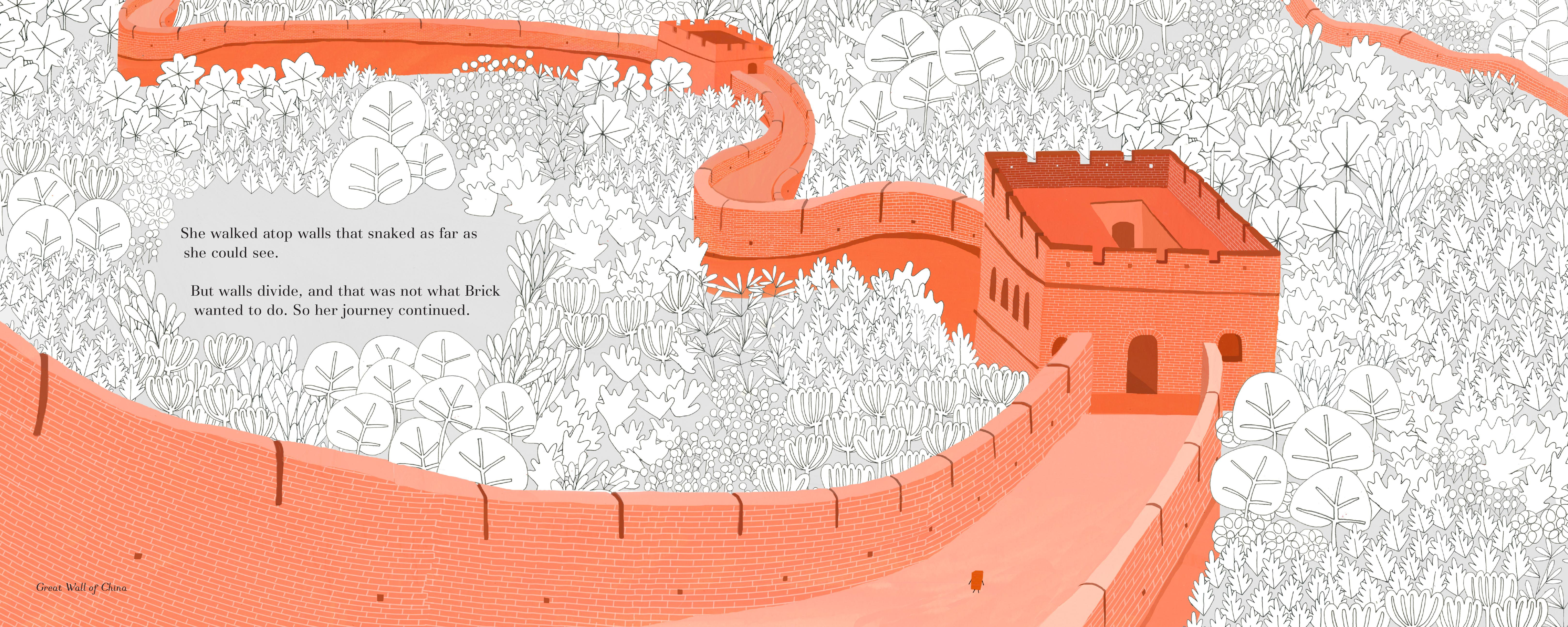 celebrate-picture-books-picture-book-review-brick-who-found-herself-in-architecture-wall