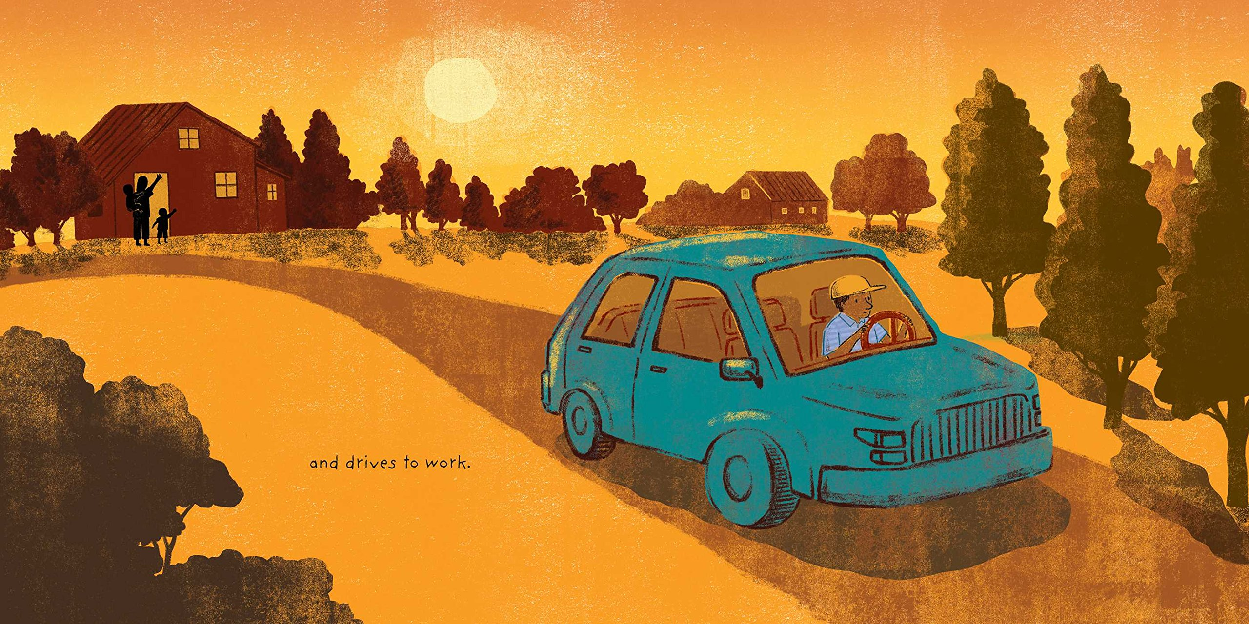 celebrate-picture-books-picture-book-review-kitten-and-the-night-watchman-driving-to-work