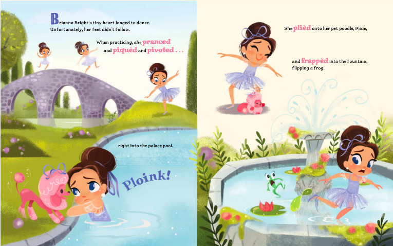 celebrate-picture-books-picture-book-review-brianna-bright-ballerina-knight-discovers-into-pool