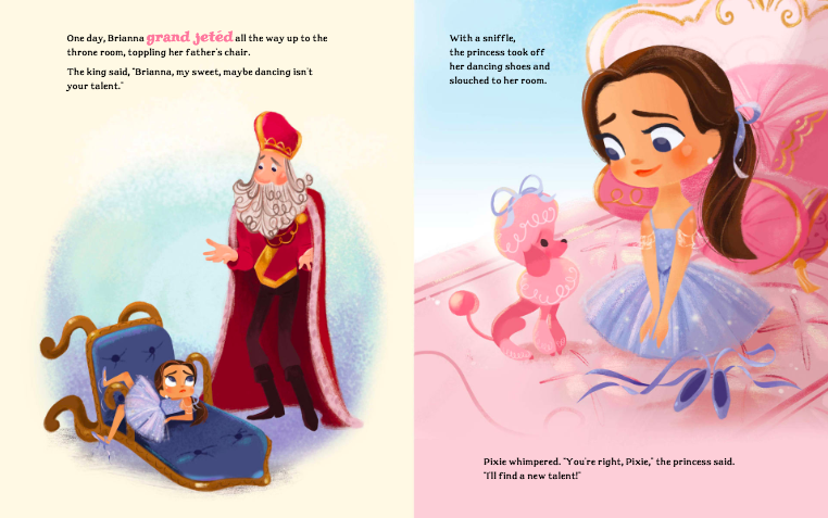 celebrate-picture-books-picture-book-review-brianna-bright-ballerina-knight-discovers-topples-throne
